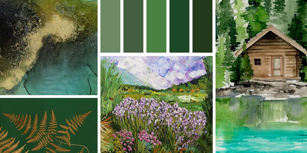 Color Palette in a range of jewel-toned greens