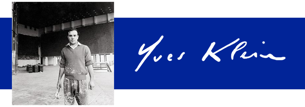 Photograph and signature of Artist Yves Klein